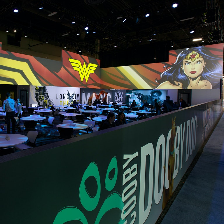 Warner Brothers Licensing show 2019 LED  with Wonder Woman